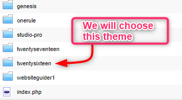 Choosing Theme