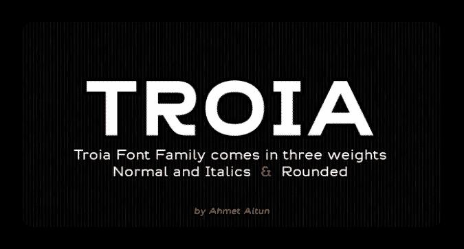 Best Fonts For Blog and Websites(Troia font)