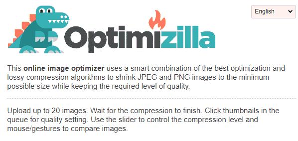 Optimizilla tool