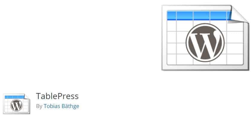 TablePress wordpress compariso plugin